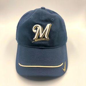 big sale 71c50 9f5df Nike. Nike Baseball Navy Cap Hat Milwaukee Brewers M